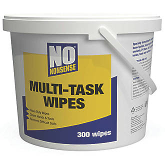 Image of No Nonsense Multi-Task Wipes White 300 Pack