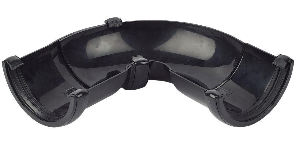 Image of FloPlast 50-156 Adjustable Gutter Angle 112mm Black