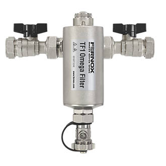 Image of Fernox 62249 Central Heating Magnetic Filter with Valves 22mm