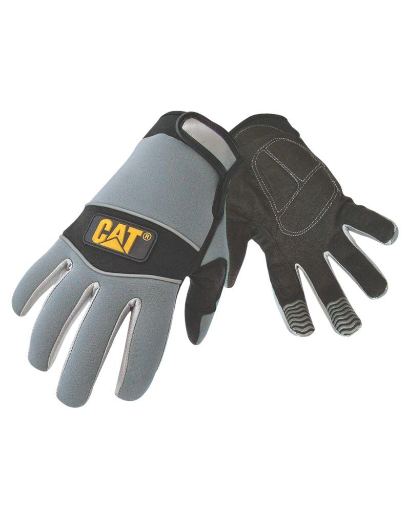 Image of CAT Neoprene Comfort Neoprene Comfort Fit Gloves Grey Large