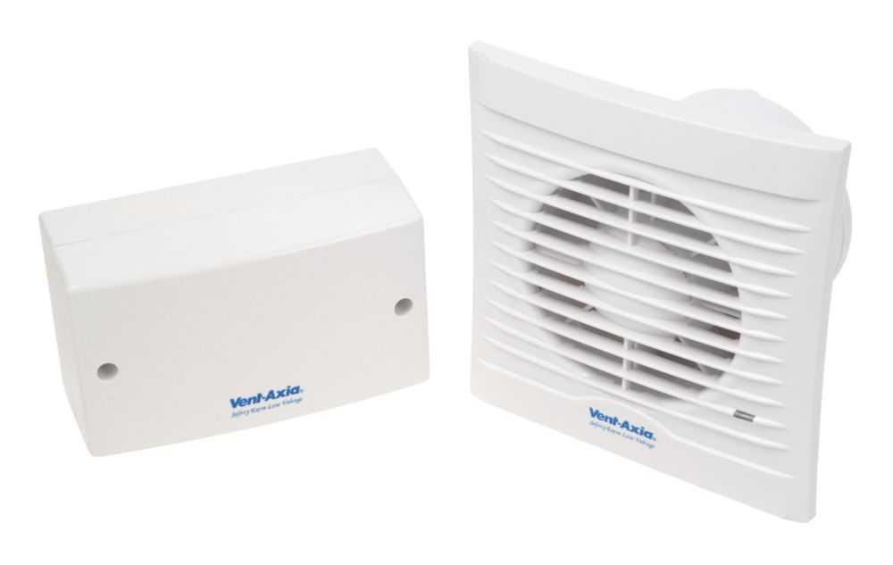 Image of Vent-Axia 100SVT 15W Bathroom Extractor Fan with Timer White 240V