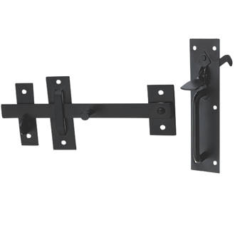 Image of Hardware Solutions Suffolk Gate Latch Kit Black