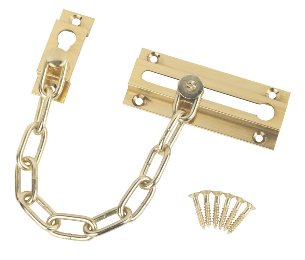 Image of Smith & Locke Security Door Chain Polished Brass