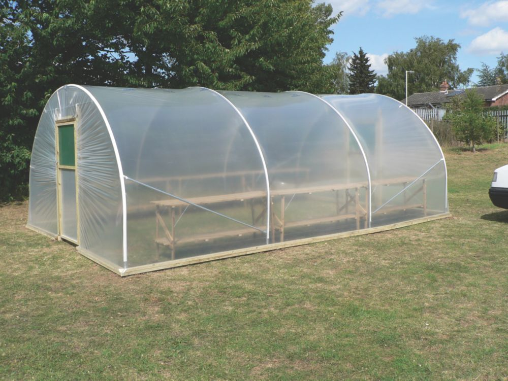 Image of First Tunnels Horticultural Polytunnel 3.66 x 4.72 x 2.31m