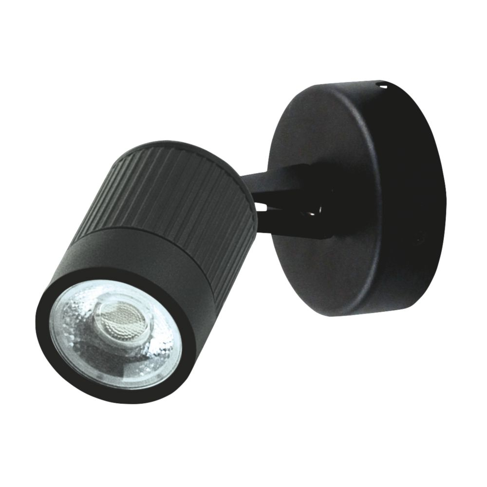 Image of Luceco Black LED Outdoor Wall Light 360lm 5W