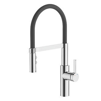 Cooke and Lewis Pull-Out Spray Mono Mixer Kitchen Tap Black ...