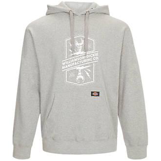 """Image of Dickies Colrain Hooded Sweatshirt Grey X Large 52"""" Chest"""