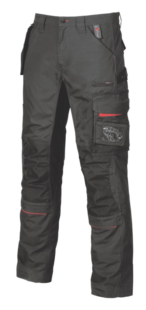 """Image of UPower Race Trousers Carbon Black 34"""" W 31"""" L"""