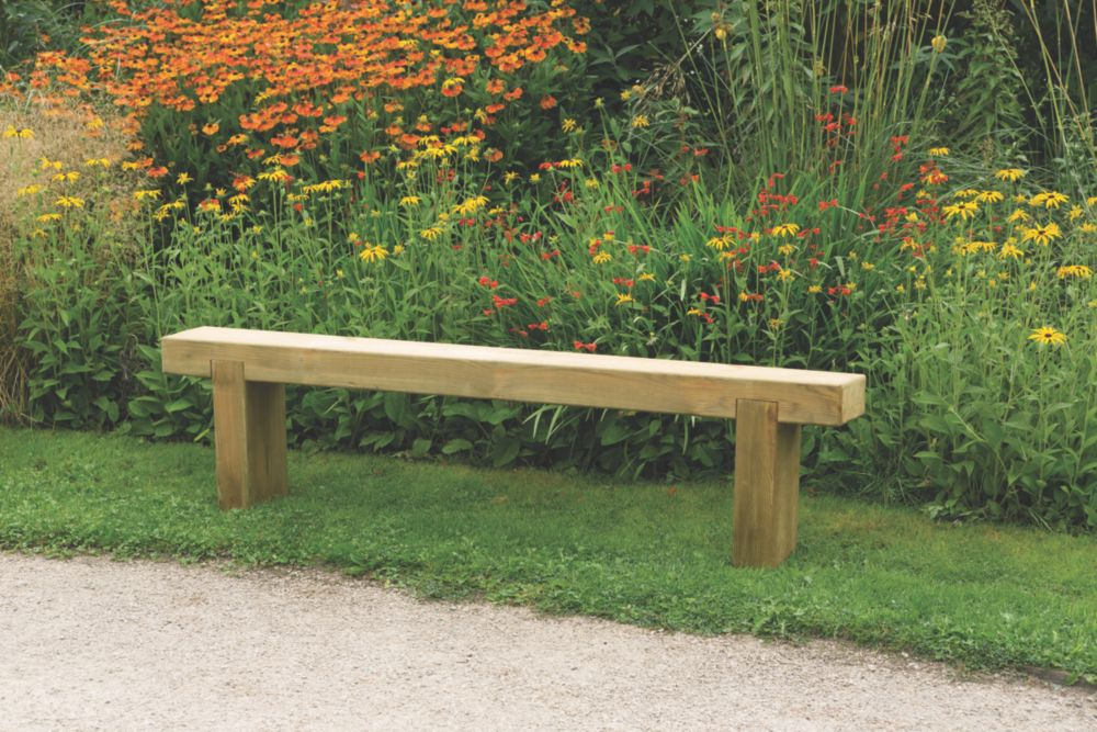 Image of Forest Sleeper Garden Bench Pressure-Treated Softwood 1800 x 200 x 447mm