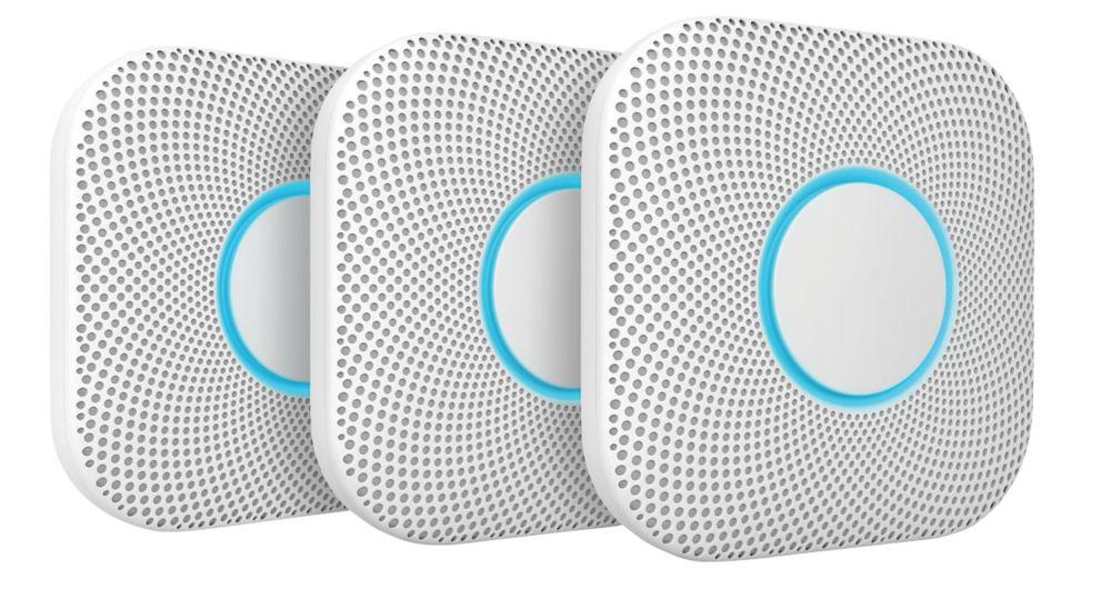 Image of Nest A13 2nd Generation Smoke & Carbon Monoxide Alarm 3 Pack