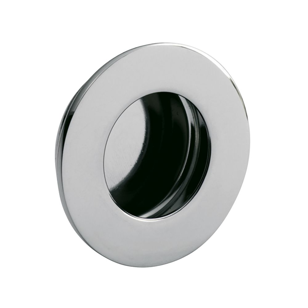 Image of Eurospec Circular Flush Pull Handle 48mm Bright Stainless Steel