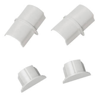 SmoothFit Connector & End Cap Pack 30 x 15mm White 4Pcs