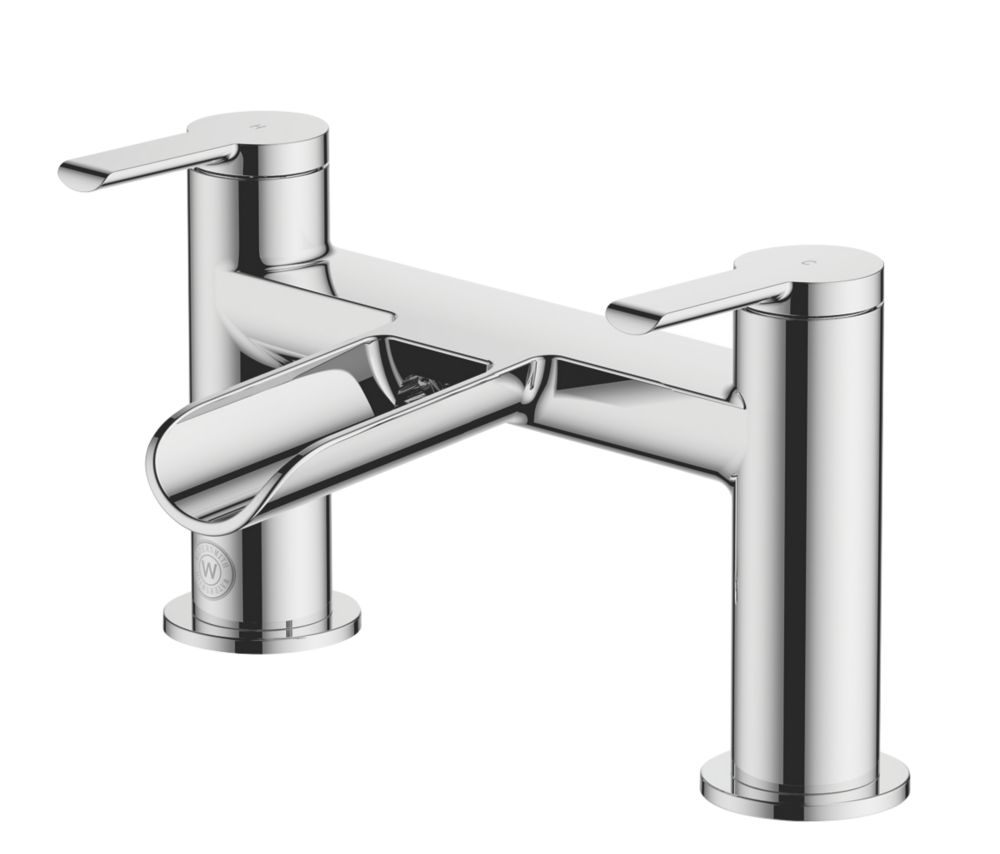 Image of Watersmith Heritage Abbey Waterfall Bath Mono Mixer Tap