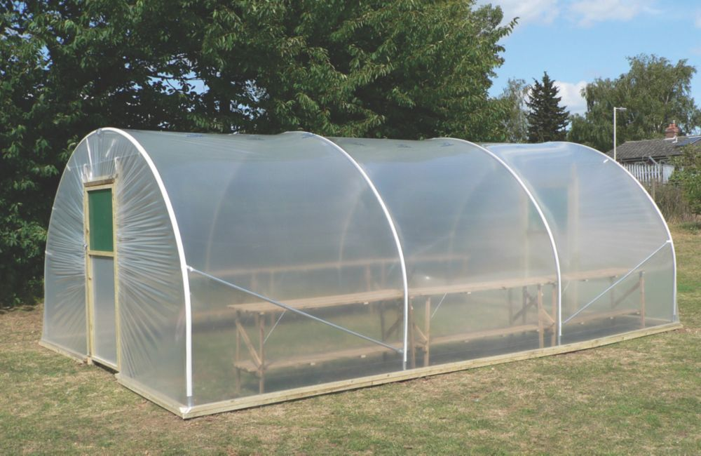 Image of First Tunnels Horticultural Polytunnel 3.66 x 7.62 x 2.31m