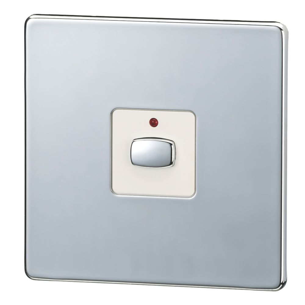Image of Energenie MiHome 1-Gang 1-Way Light Switch Polished Chrome