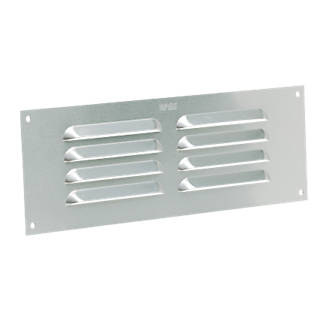 Image of Map Vent Fixed Louvre Vent Silver 229 x 76mm