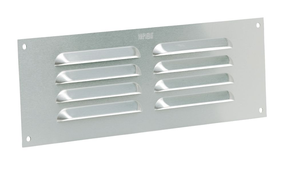 Image of Map Vent Fixed Louvre Vent Silver 76 x 229mm