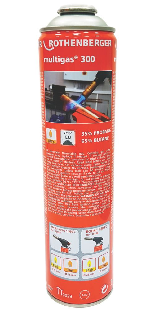 Image of Rothenberger Butane / Propane Mixed Gas Cylinder 336g