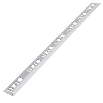 Image of Diall 10mm Straight PVC Tile Trim White 2.5m