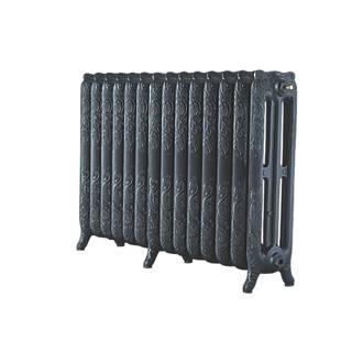 Image of Arroll 3-Column Cast Iron Radiator 760 x 1154mm Pewter