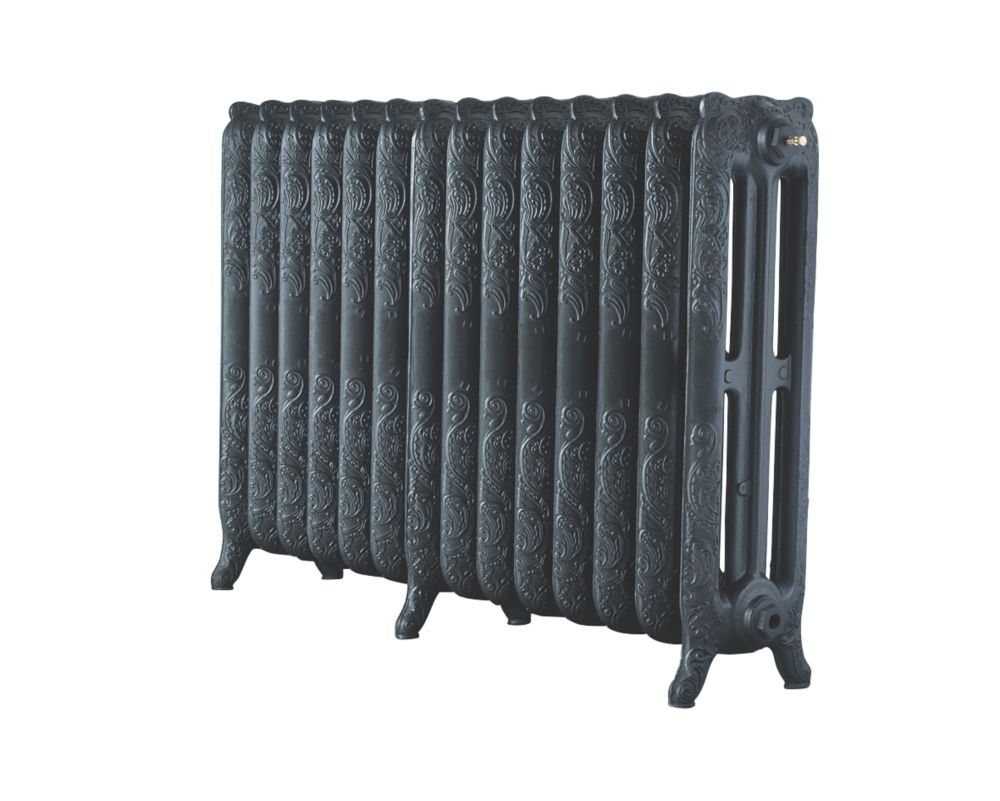 Image of Arroll 3-Column Cast Iron Radiator 760 x 1154mm Pewter