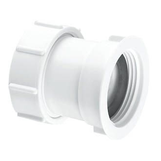 Image of McAlpine S29 Compression Connection Straight Connector White 32mm x 32mm