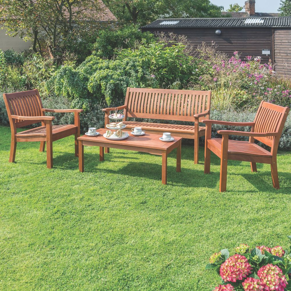 Image of Rowlinson Willington Garden Table & Chairs Set