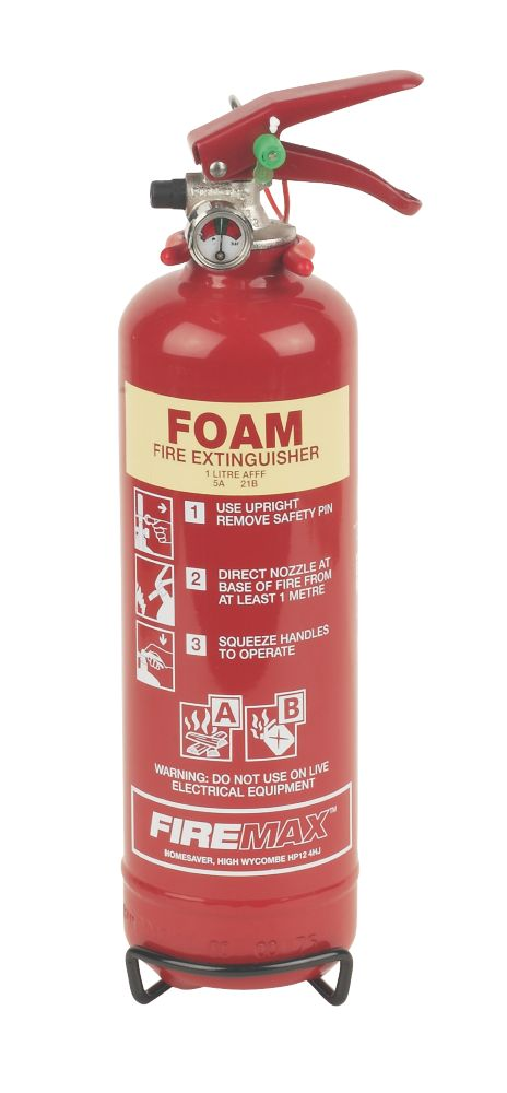 Image of Firemax Foam Fire Extinguisher 1Ltr