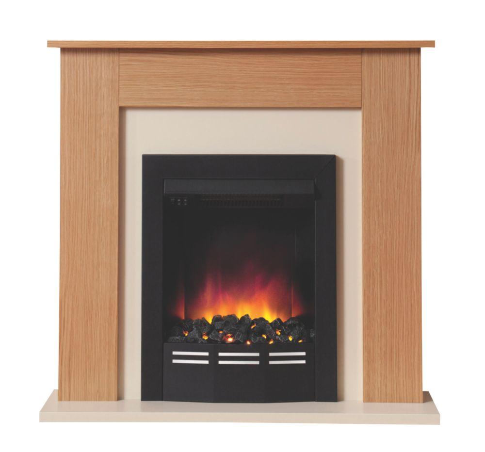 Image of Be Modern Colston Electric Suite Oak Veneer