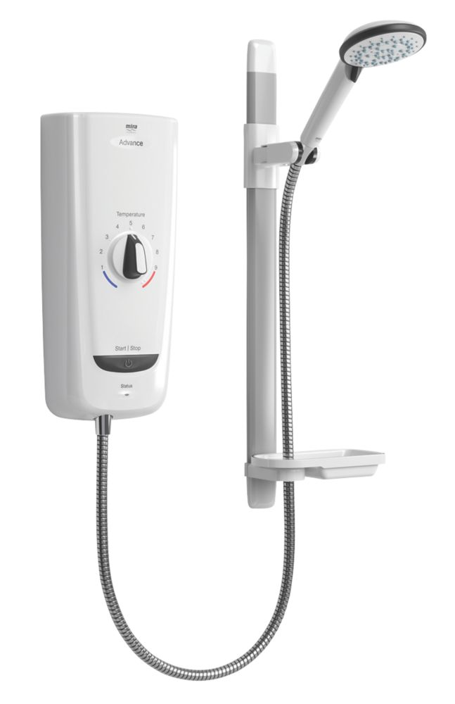 Image of Mira Advance White 9.8kW Thermostatic Electric Shower