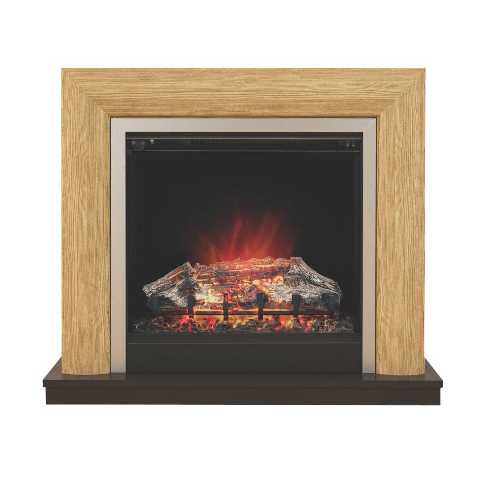 Image of Be Modern Devonshire Electric Suite Oak Veneer