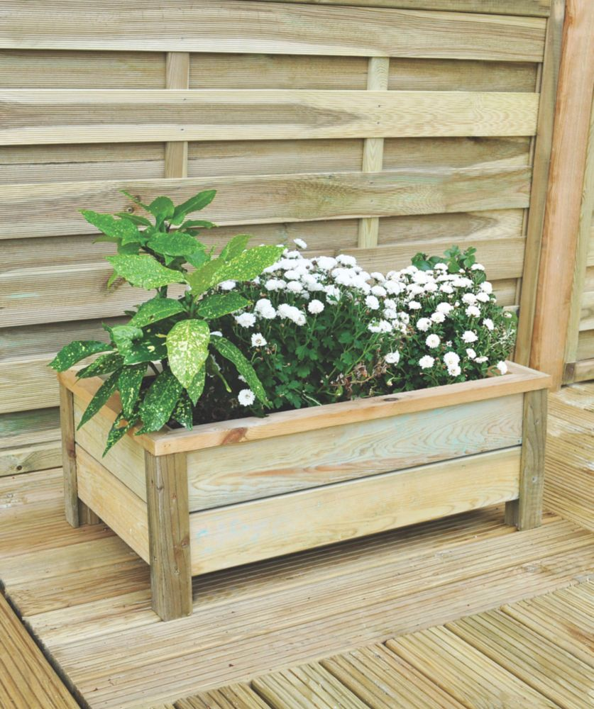 Image of Forest Rectangular Rectangular Planter 678 x 410 x 258mm