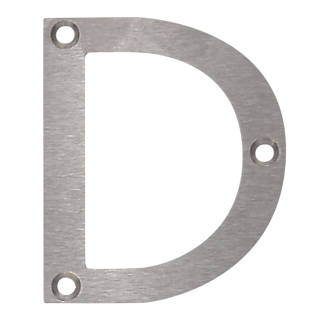 Image of Fab & Fix Door Letter D Satin Stainless Steel 78mm
