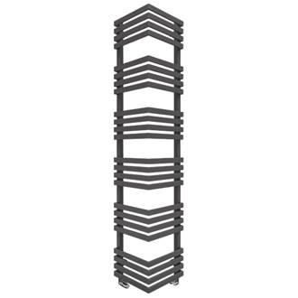 Image of Terma Outcorner Designer Towel Rail 1545 x 300mm Grey / Silver