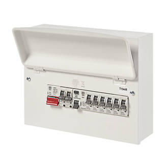 Image of MK Sentry 12-Module 8-Way Populated High Integrity Consumer Unit