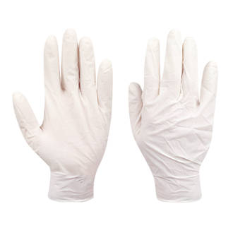 Image of Cleangrip Latex Powdered Disposable Gloves Natural X Large 100 Pack
