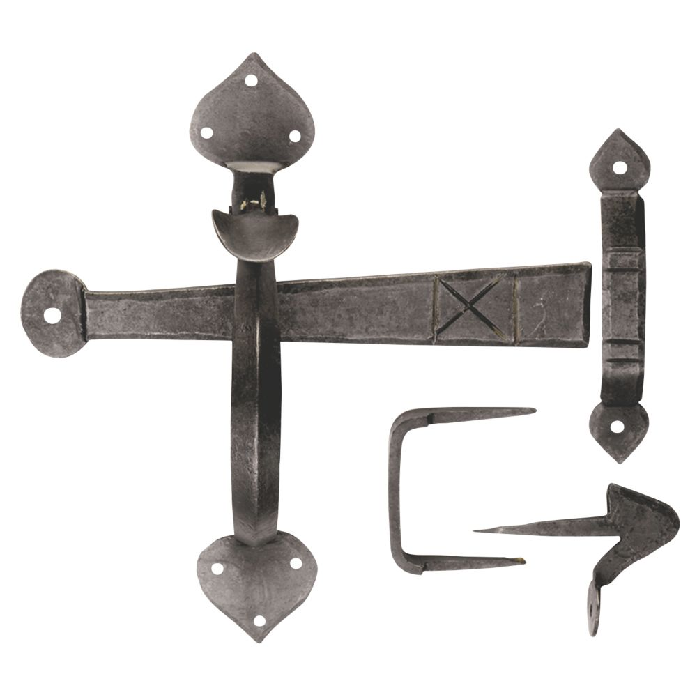Image of Carlisle Brass Gothic Thumb Latch Handle Beeswax 190mm
