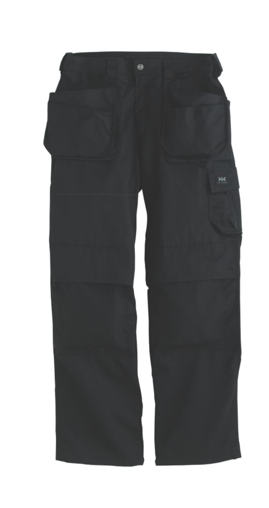 "Image of Helly Hansen Ashford Knee Pad Trousers Black 31"" W 31"" L"