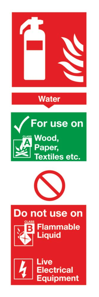 Image of Water Extinguisher ID Sign 280 x 90mm