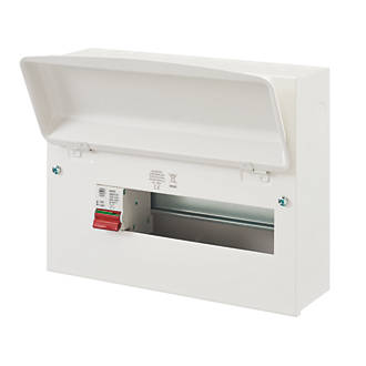 Image of MK Sentry 12-Module 10-Way Part-Populated Main Switch Consumer Unit