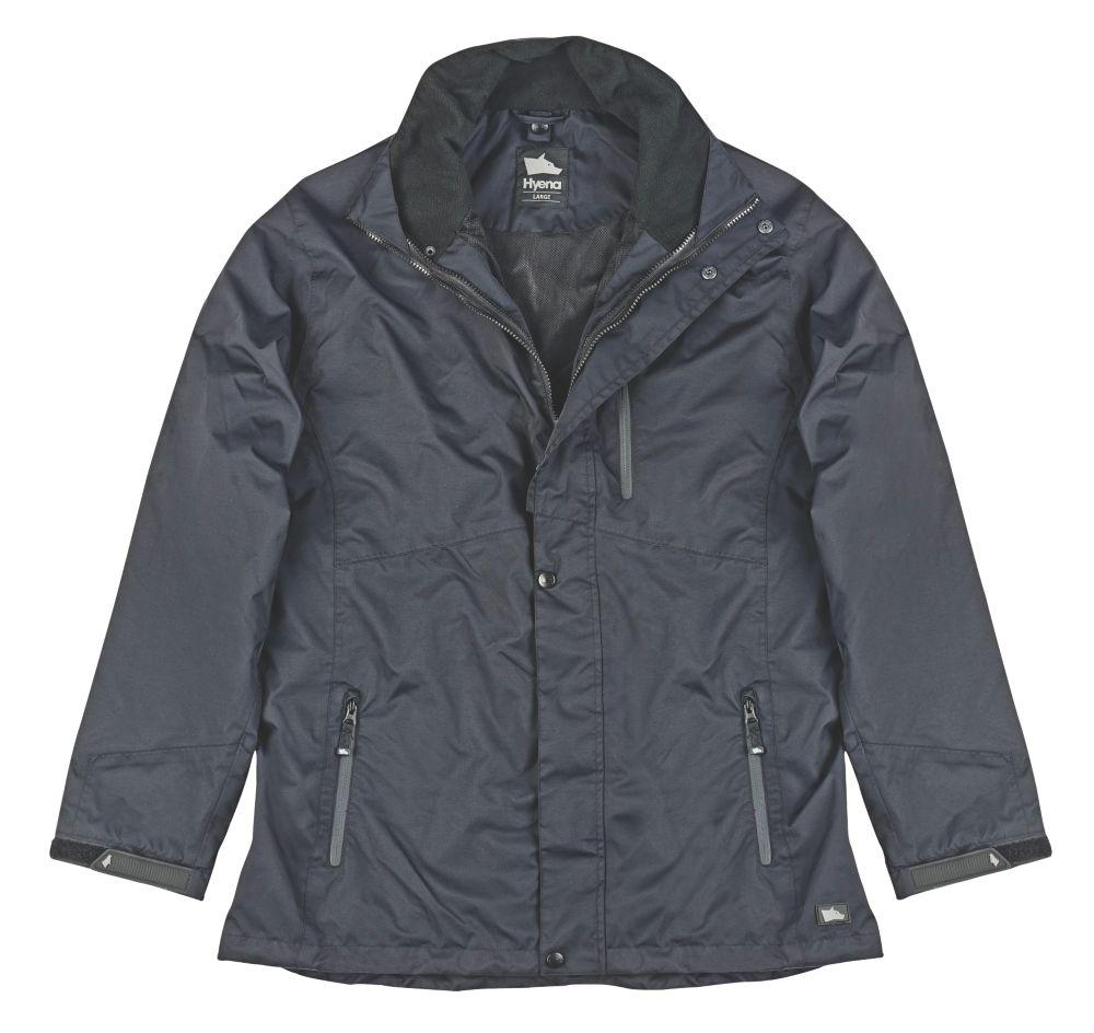 "Image of Hyena Asgard Waterproof Jacket Black Large 53"" Chest"