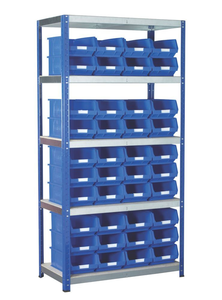 Image of Barton Ecorax Shelving Blue 900 x 450 x 1800mm