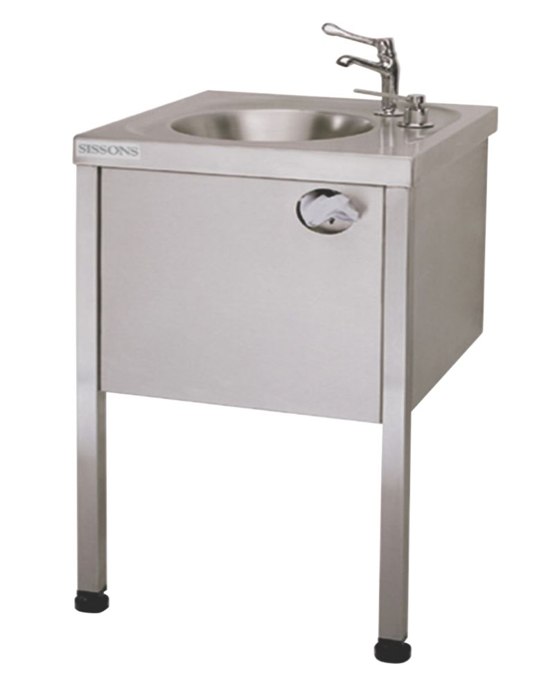 Image of Franke Round Washbasin with Legs Stainless Steel 1-Bowl 860 x 450mm
