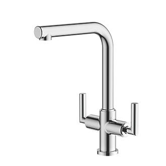 Image of Watersmith Heritage Dolce Dual-Lever Mono Mixer Kitchen Tap Chrome