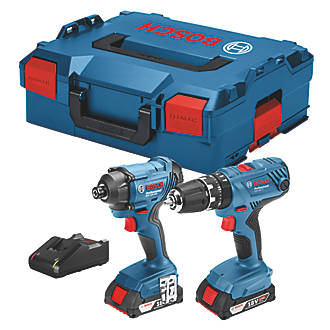 Image of Bosch 06019G5172 18V 2.0Ah Li-Ion Coolpack Cordless Combi Drill & Impact Driver Twin Pack