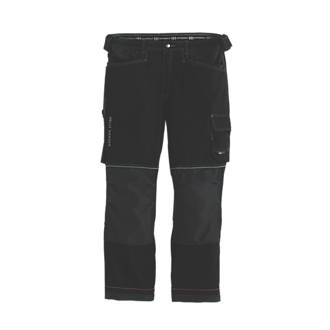 "Image of Helly Hansen Chelsea Construction Trousers Black/Charcoal 31"" W 31"" L"