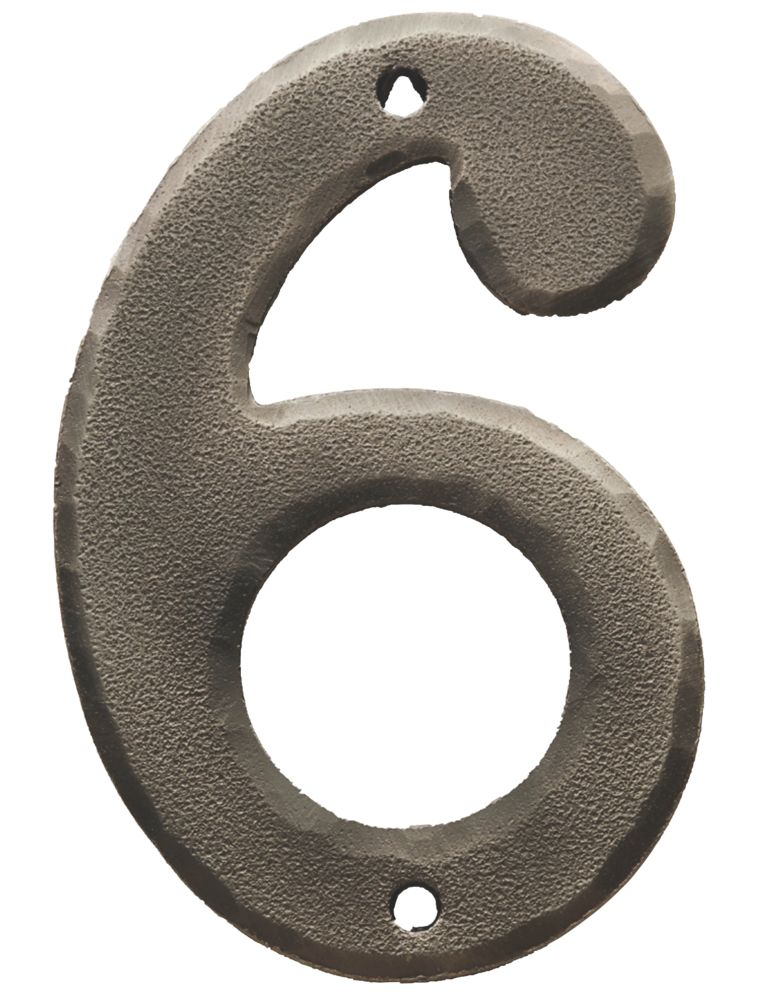 Image of Carlisle Brass Ludlow Door Numeral 6, 9 Pewter Effect 78mm