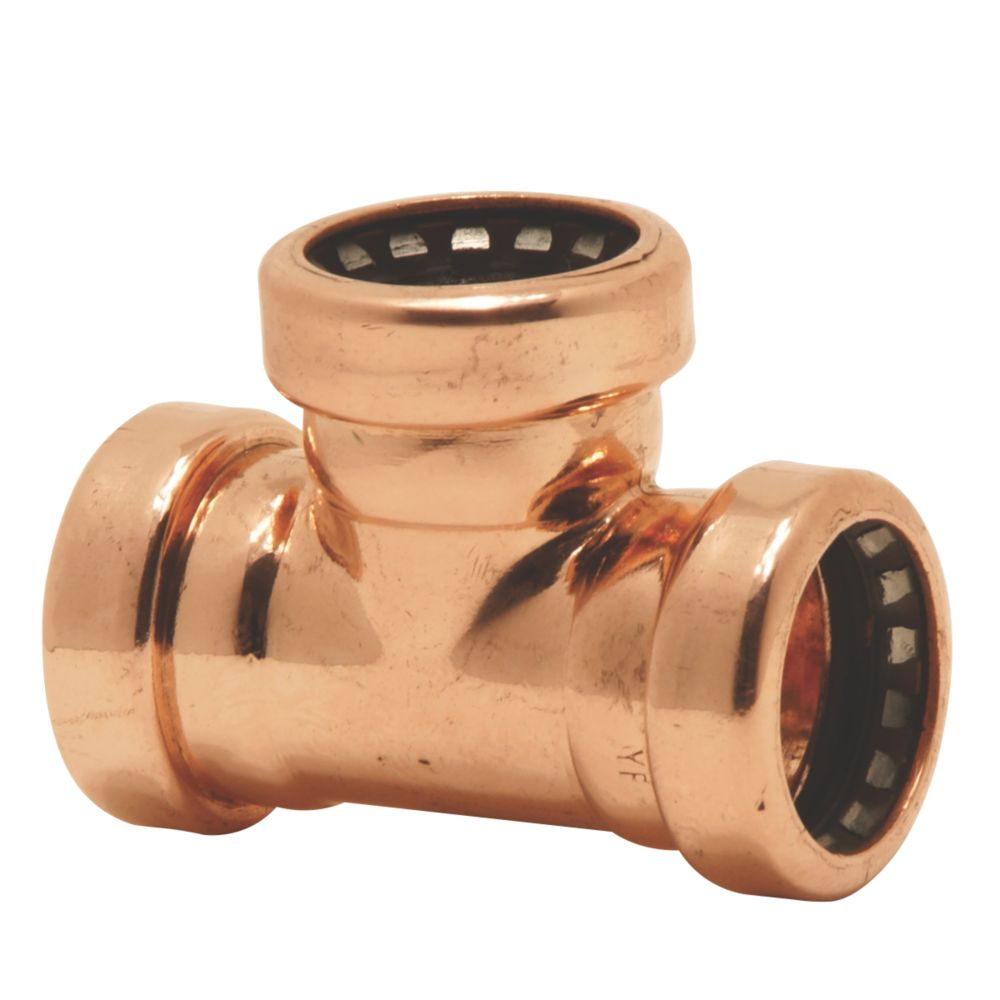 Image of Tectite Sprint Push-Fit Pipe Equal Tee 22 x 22 x 22mm