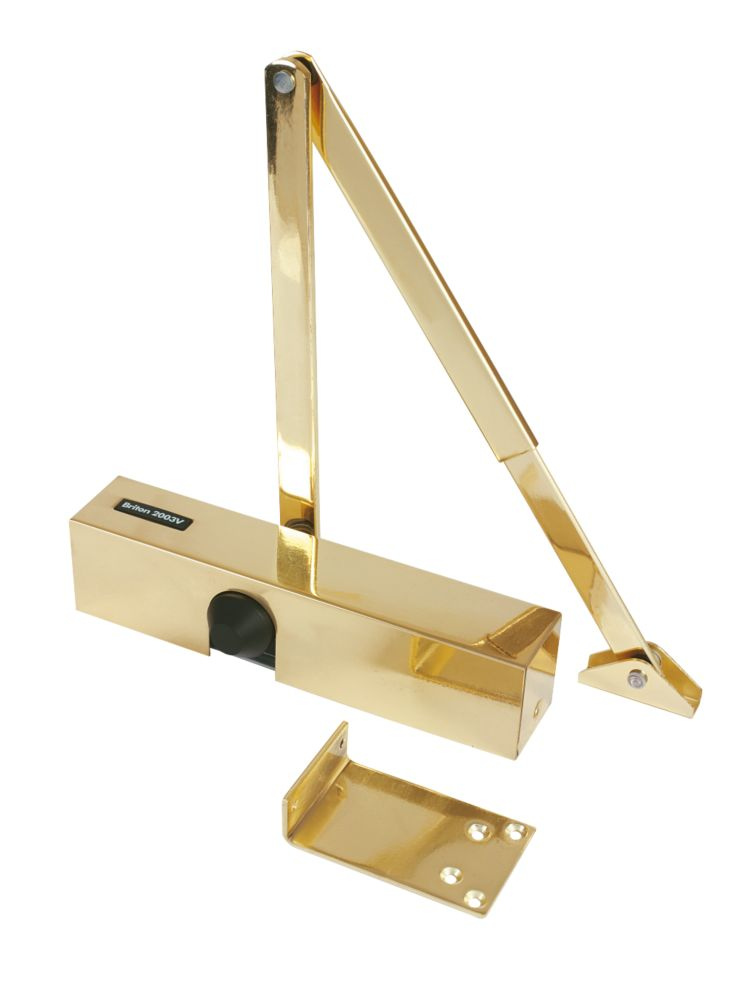 Image of Briton 2003V Overhead Door Closer Polished Brass