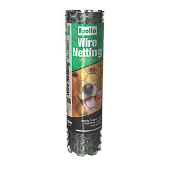 Image of Apollo 25mm PVC-Coated Wire Netting 0.5 x 10m